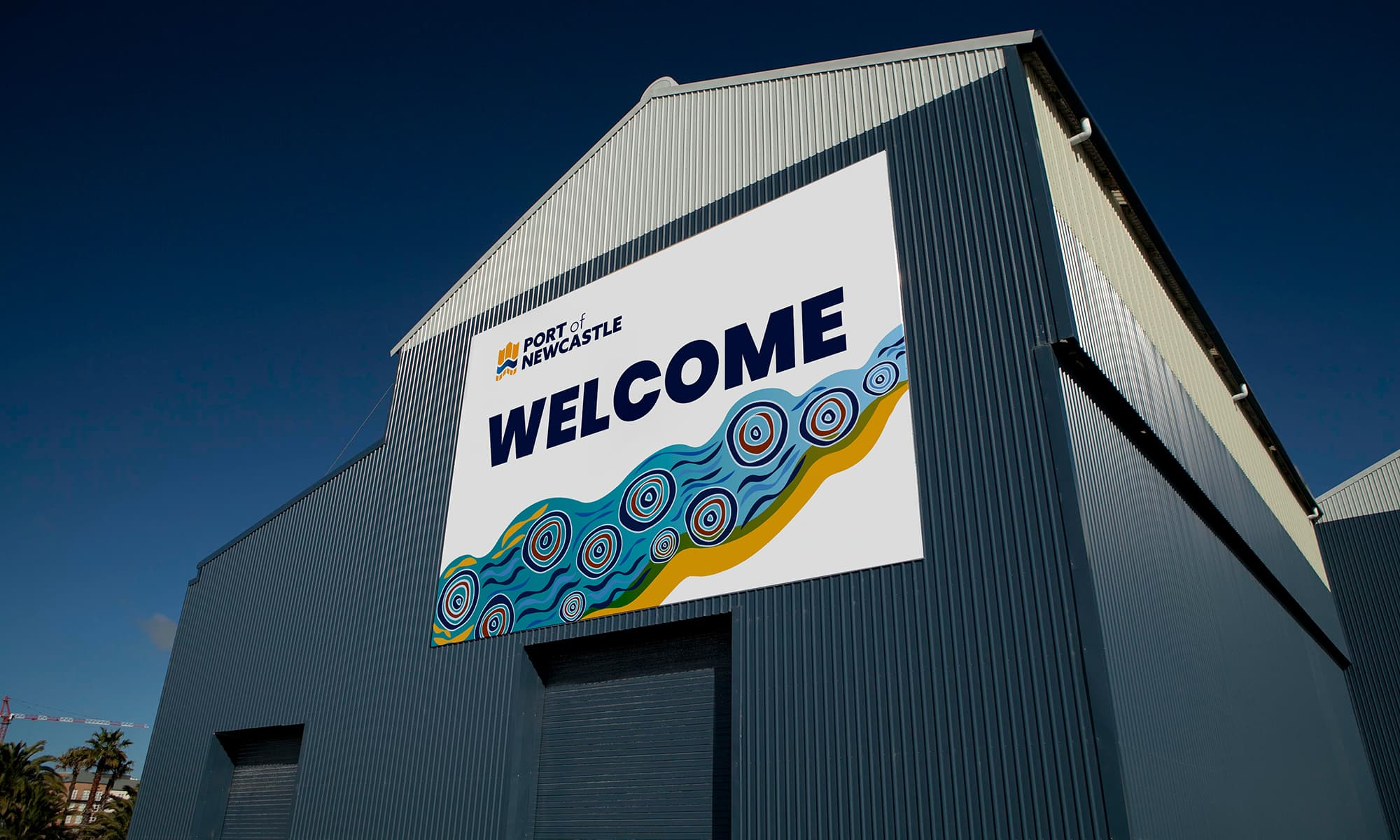 New Welcome to Port of Newcastle Dyke Point sign